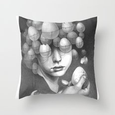 FRAGILE 3# Throw Pillow