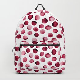 Watercolor Dots // Cardinal Red Backpack