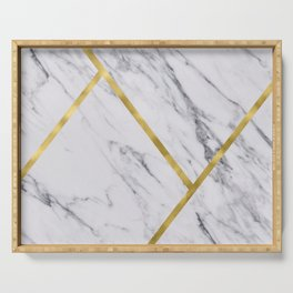 Golden classic marble Serving Tray