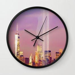 Gentle city skyline  012 04 01 17 Wall Clock