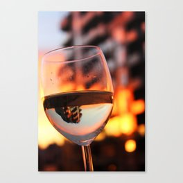 The Hour Is Wine Canvas Print