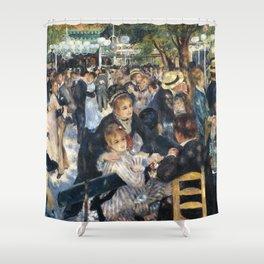 Dance at Le Moulin de la Galette by Renoir Shower Curtain