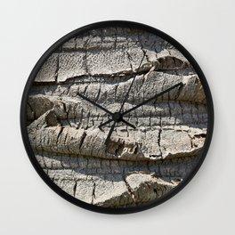 Bark of palm trees Wall Clock