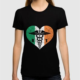 Irish Radiology Tech Caduceus Flag Love T-shirt