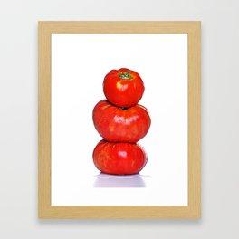 Biologic tomatoes Framed Art Print