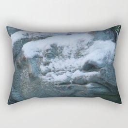 Snow On Rino Rectangular Pillow
