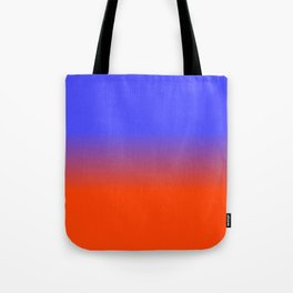 Neon Blue and Neon Orange Ombré  Shade Color Fade Tote Bag