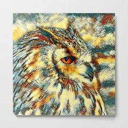 AnimalArt_Owl_20170917_by_JAMColorsSpecial Metal Print