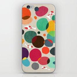 Lotus in koi pond iPhone Skin