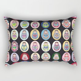 cute doll babushka matryoshka Rectangular Pillow