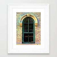 law Framed Art Prints featuring Law Office by Biff Rendar