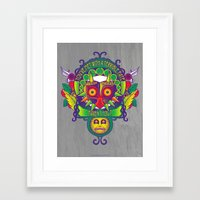majora Framed Art Prints featuring Majora Nouveau by Mareve Design