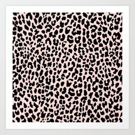 Rose Gold Leopard Art Print