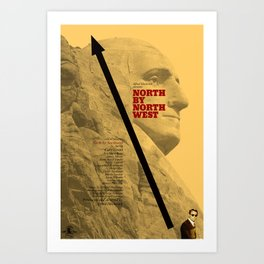 Hitchcock: North by Northwest Art Print