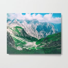 View of the majestic Madeira mountains Metal Print