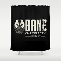 bane Shower Curtains featuring B chiropractic by Buby87