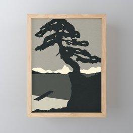 Baltic Coast Black and White Framed Mini Art Print