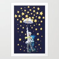 dmmd Art Prints featuring DMMd :: The stars are falling by Magnta