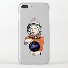 Yuri Gagarin. Space day. Clear iPhone Case