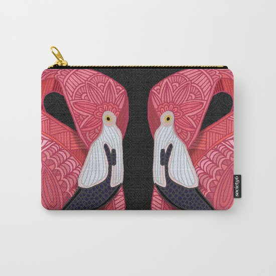 Pink Flamingos 2016 (black) Carry-All Pouch