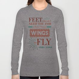 I Have Wings Long Sleeve T-shirt