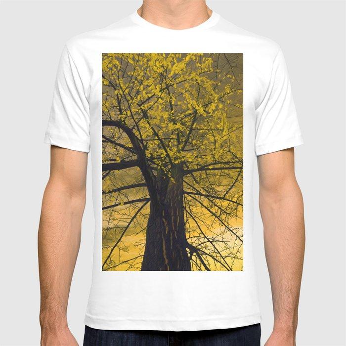 ed683cdb3a0cc Fall Yellow Tree Painting T-shirt by miraminerva