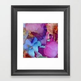 Alcohol Ink Flowers Framed Art Print