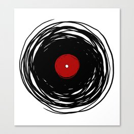 Spinning within with a vinyl record... Canvas Print