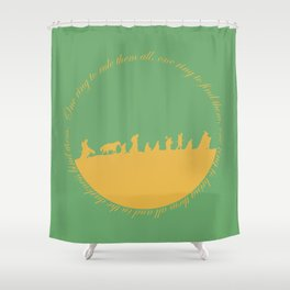 Ring of power Shower Curtain