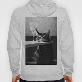 The Nightwatch Cat at the Absinthe bar black and white photograph / art photography Hoody