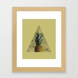 Aloha Sweet Pineapple Geometry Framed Art Print