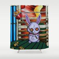 radio Shower Curtains featuring Radio by Thom Whalen