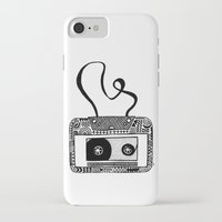 cassette iPhone & iPod Cases featuring Cassette by Virki