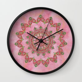 Knotted Floral Wall Clock