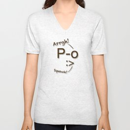 Pirates Have Emoticons, Too Unisex V-Neck