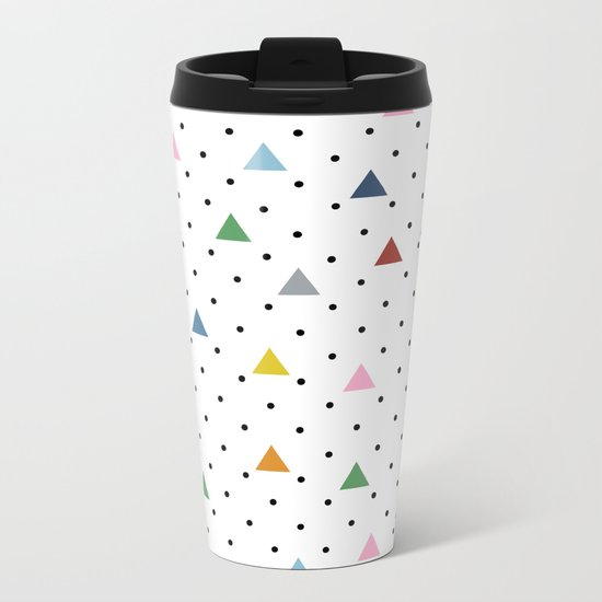 Pin Point Triangles Metal Travel Mug