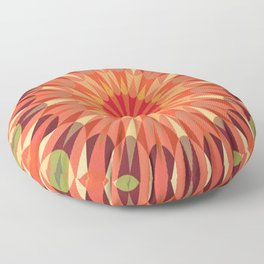 Living Coral Retro Geometry Earth Tones Floor Pillow