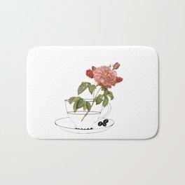 botanical coffee Bath Mat