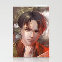 levi Stationery Cards featuring Levi SnK by x3uu