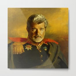 George Lucas - replaceface Metal Print