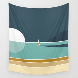 View from the beach Wall Tapestry