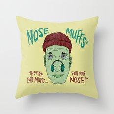 NOSE MUFFS Throw Pillow