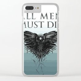 All men must die Clear iPhone Case