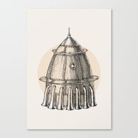 steam punk Canvas Prints featuring Steam punk rocket by Bakani
