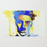 charlie chaplin Area & Throw Rugs featuring charlie chaplin 04 by manish mansinh