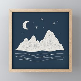 sonoran night Framed Mini Art Print