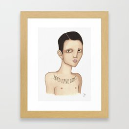 Lord have mercy Framed Art Print