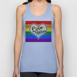 Pride Flag Love is Love-Water Color Graphic  Design  Unisex Tank Top