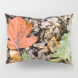 Autumnal leaves on the ground Pillow Sham