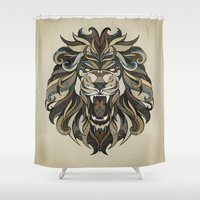 lion Shower Curtains featuring Lion by Andreas Preis